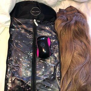 """Bellami hair 22"""", 340g Boogatti Ash Brown"""